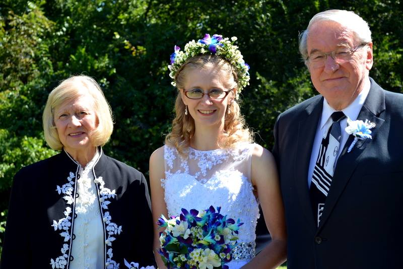 Dr. and Mrs. Chipchase with granddaughter Jessie