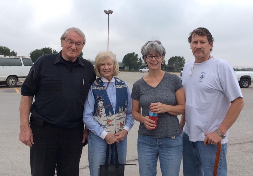 Youngest son John with his wife Nancy and Dr. and Mrs. Chipchase